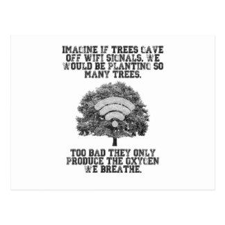 木がWiFi信号を放ったら想像して下さい ポストカード