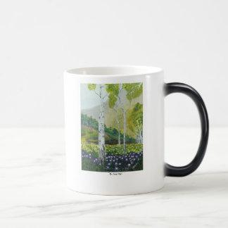木で切り分けられる モーフィングマグカップ