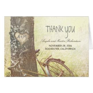 木との素朴な国のサンキューカード カード