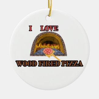 木によって発射されるピザ セラミックオーナメント