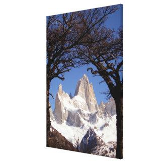 木によって組み立てられる山Fitzローイパタゴニア キャンバスプリント