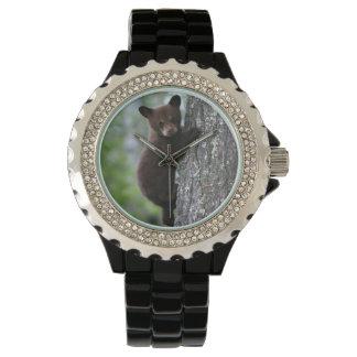木に上る小熊 腕時計
