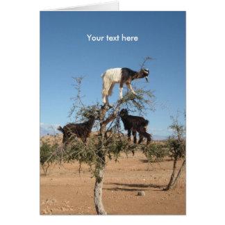 木のおもしろいなヤギ カード
