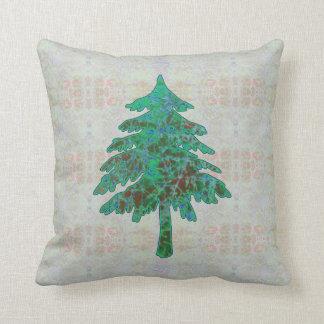 木のろうけつ染め1つの枕 クッション
