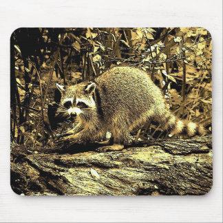 木のアライグマ マウスパッド