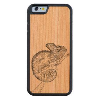 木のイグアナの電話箱 CarvedチェリーiPhone 6バンパーケース