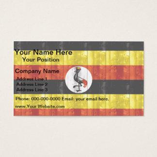 木のウガンダの旗 名刺