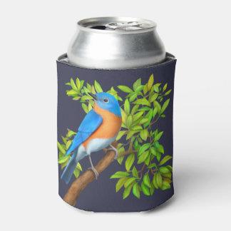 木のクーラーボックスの東のブルーバード 缶クーラー