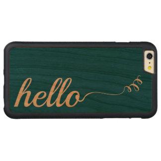 木のケリーのモダンな緑こんにちは CarvedチェリーiPhone 6 PLUSバンパーケース