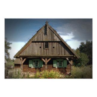 木のコテージ-写真 フォトプリント