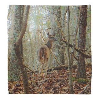 木のシカ。 迷彩柄のカムフラージュ バンダナ