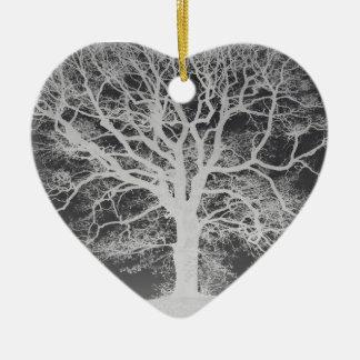 木のシルエットの美しい上品 セラミックオーナメント
