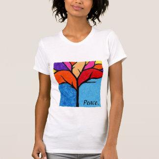 木のシルエット。 平和 Tシャツ