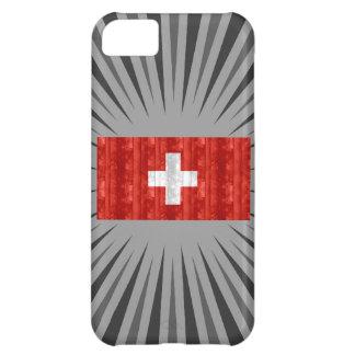 木のスイスの旗 iPhone5Cケース