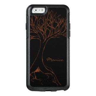 木のスケッチ-名前と名前入りな- オッターボックスiPhone 6/6Sケース