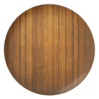 木のスタイリッシュなプレート プレート