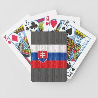 木のスロバキアの旗 バイスクルトランプ
