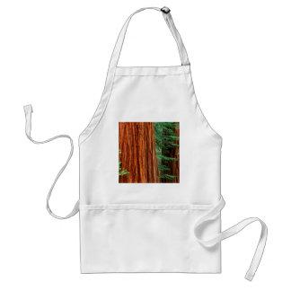 木のセコイアオスギのMariposa果樹園ヨセミテ スタンダードエプロン