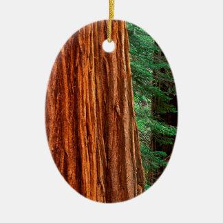 木のセコイアオスギのMariposa果樹園ヨセミテ セラミックオーナメント