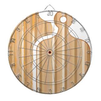 木のタケまな板 ダーツボード