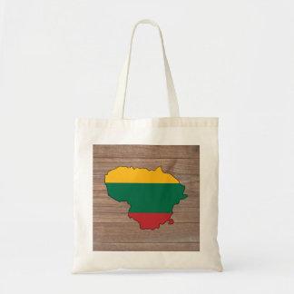 木のチームリスアニアの旗の地図 トートバッグ