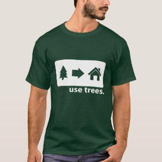 木のティーを使用して下さい Tシャツ