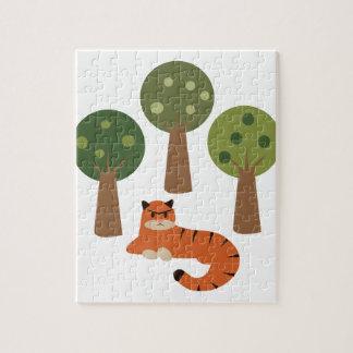 木のトラ ジグソーパズル