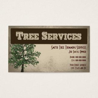 木のトリミングの心配のサービス業カード 名刺
