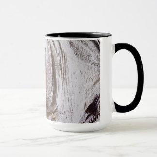木のトロフィが隔離したようにピラニアの魚 マグカップ