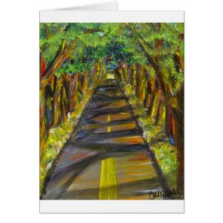 木のトンネル カード