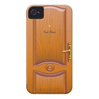 木のドアの一見 Case-Mate iPhone 4 ケース