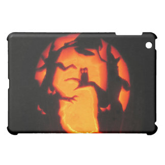 木のハロウィンの恐いフクロウ iPad MINI CASE