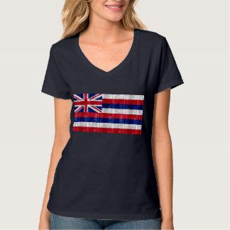 木のハワイの旗 Tシャツ