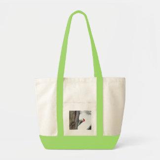 木のバッグの上昇 トートバッグ