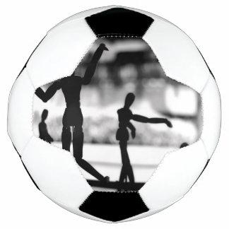 木のパペットBW サッカーボール