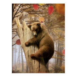 木のヒグマの登山 ポストカード