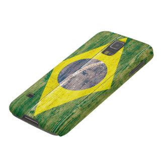 木のブラジルの旗 GALAXY S5 ケース