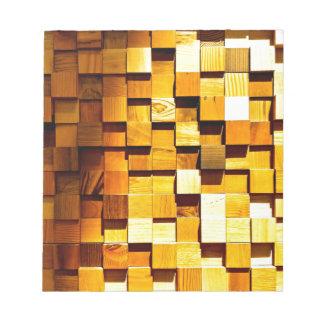 木のブロックパターン ノートパッド