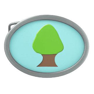 木のベルトの留め金 卵形バックル