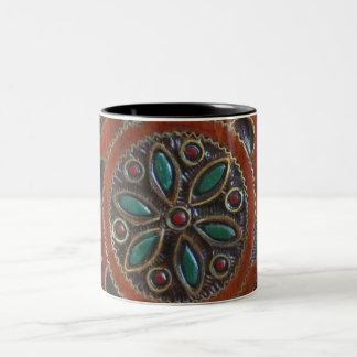 木のポーランドのプレートのデザイン ツートーンマグカップ