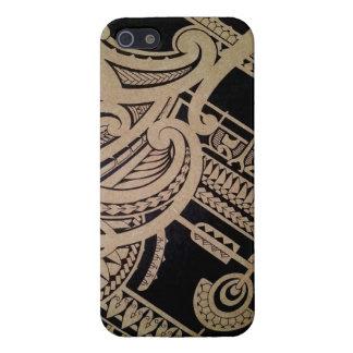 木のマオリの入れ墨の芸術 iPhone 5 カバー