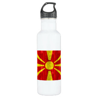 木のマケドニアの旗 ウォーターボトル