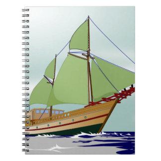 木のヨット ノートブック