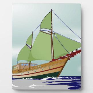 木のヨット フォトプラーク