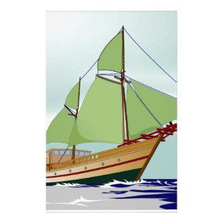 木のヨット 便箋