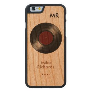 木のレコードとのパーソナライズされたなiPhone 6 ケース