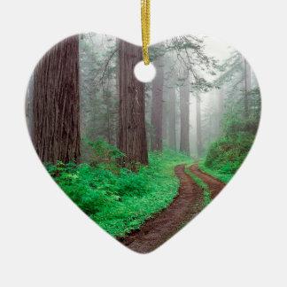 木のレッドウッドカリフォルニア セラミックオーナメント