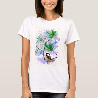 木のワイシャツの《鳥》アメリカゴガラの鳥 Tシャツ
