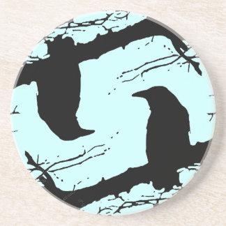 木のワタリガラス コースター