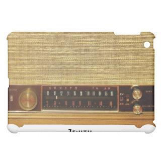 木のヴィンテージのラジオ iPad MINIケース